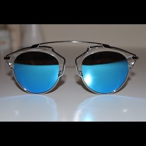 AUTHENTIC DIORSOREAL Blue/Silver LENS Pre-owned